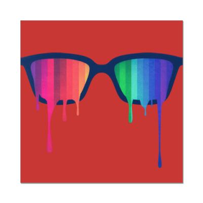 Наклейка (стикер) Хипстер: очки