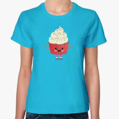 Женская футболка Кексик