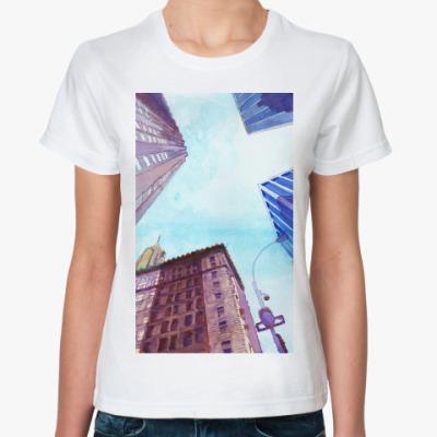 Классическая футболка Небоскребы II