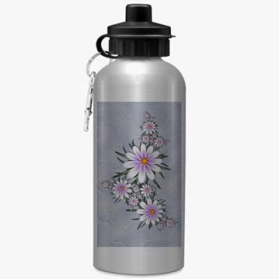 Спортивная бутылка/фляжка Нежные цветы