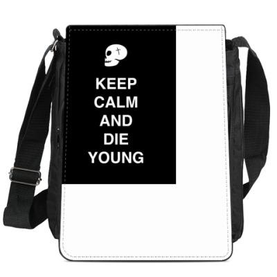 Сумка-планшет Keep calm and die young