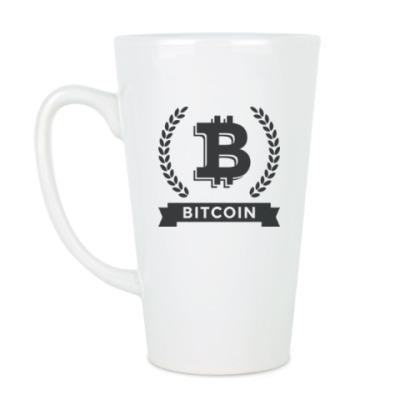 Чашка Латте Bitcoin - Биткоин
