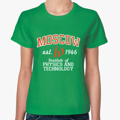 Женская футболка Яркая женская МФТИ