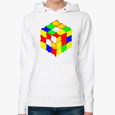 Женская толстовка худи Кубик Рубика