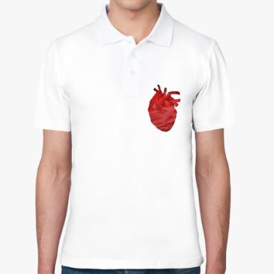 Рубашка поло Сердце 3D