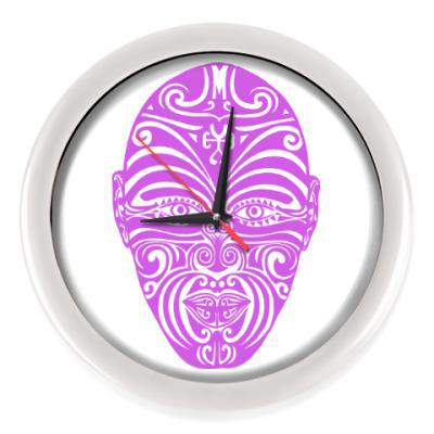 Настенные часы Для воина Маори