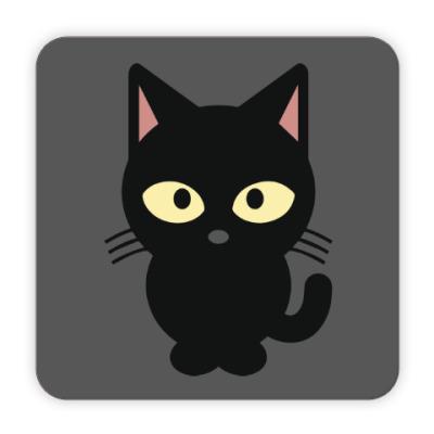Костер (подставка под кружку) Черный Котик