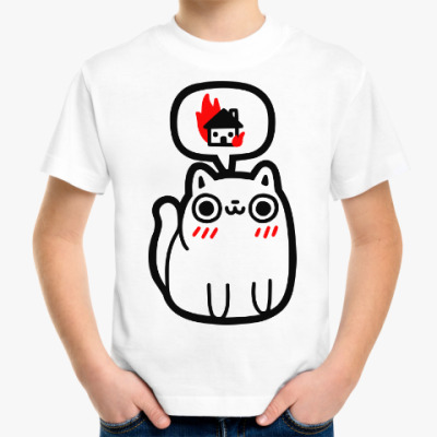 Детская футболка Котик злой