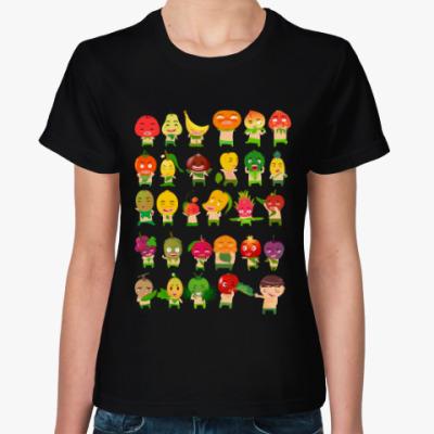 Женская футболка Фрукты, Овощи и Ягоды
