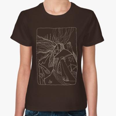 Женская футболка Дева-птица и отчаявшийся