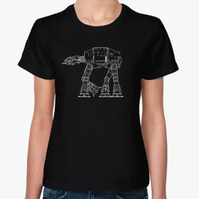 Женская футболка AT-AT walker. Звёздные войны