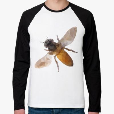 Футболка реглан с длинным рукавом Пчела / Bee
