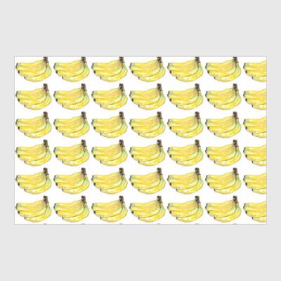 Постер банановый узор