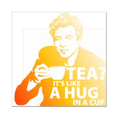 Наклейка (стикер) Чай?