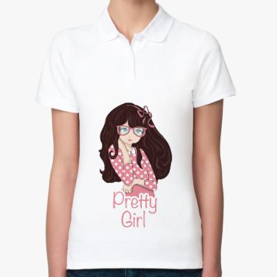 Женская рубашка поло Девочка