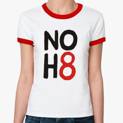 Женская футболка Ringer-T NOH8