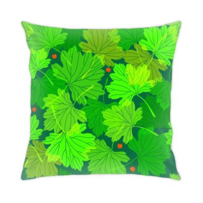 Подушка Листья смородины