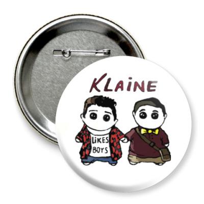 Значок 75мм Klaine ( Glee Cast )