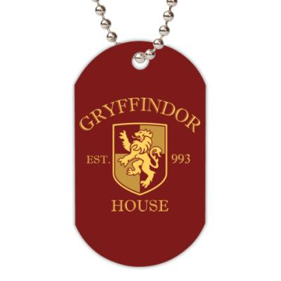 Жетон dog-tag Gryffindor