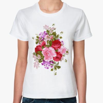 Классическая футболка Красивый букет