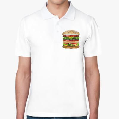 Рубашка поло Вкусняшка гамбургер