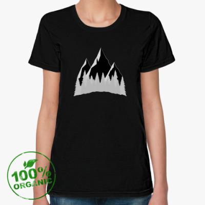 Женская футболка из органик-хлопка Mountains Forest