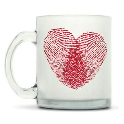 Кружка матовая Отпечатки Любви