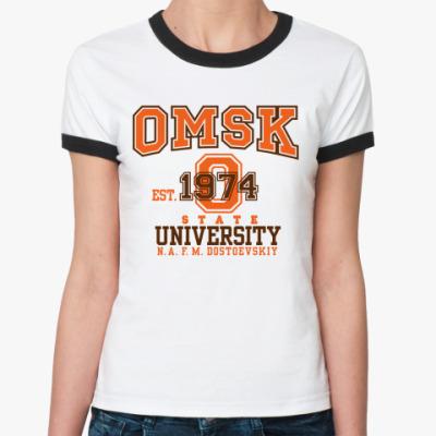 Женская футболка Ringer-T  Омский университет
