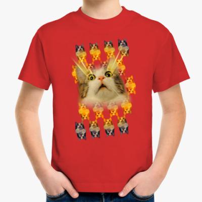 Детская футболка Котенька в шоке