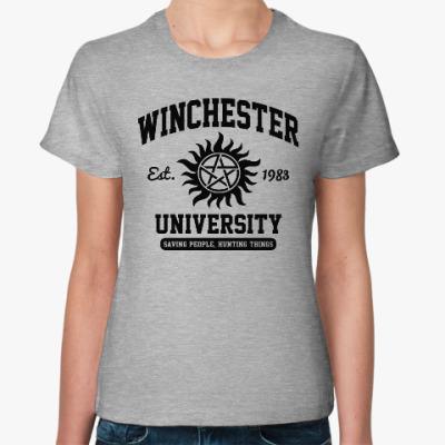 Женская футболка Winchester University