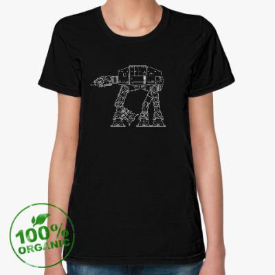 Женская футболка из органик-хлопка AT-AT walker. Звёздные войны