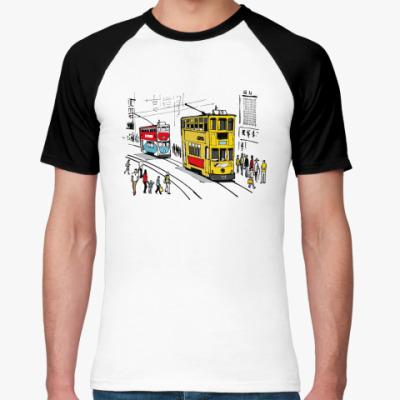 Футболка реглан Tram HongKong