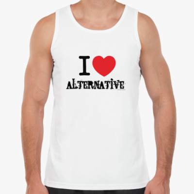 Майка I love alternative