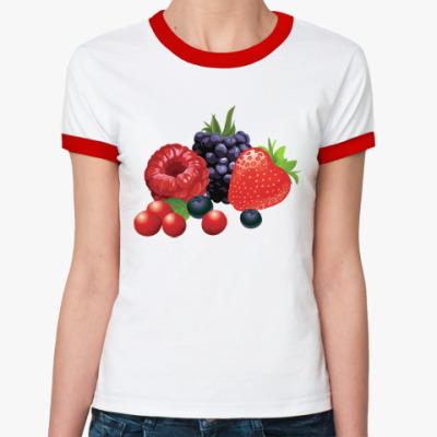 Женская футболка Ringer-T Ягоды