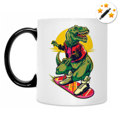 Кружка-хамелеон Dinosaur