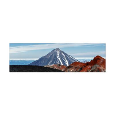 Виниловые наклейки Вулканы, летний пейзаж полуострова Камчатка