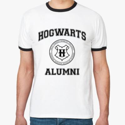 Футболка Ringer-T Hogwarts Alumni