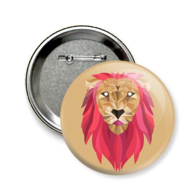 Значок 58мм Лев / Lion