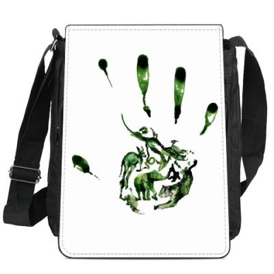 Сумка-планшет Зеленый отпечаток