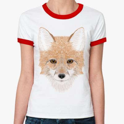 Женская футболка Ringer-T Рыжий лис