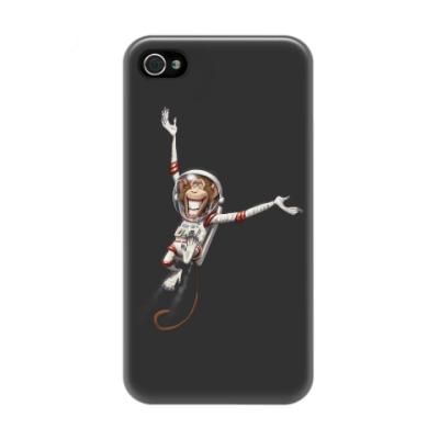 Чехол для iPhone 4/4s Обезьянка Космонавт