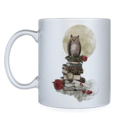 Кружка Мудрая сова и книги