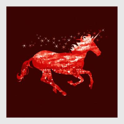 Постер Рубиновый Единорог