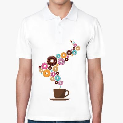 Рубашка поло Кофе с пончиками