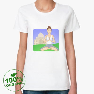 Женская футболка из органик-хлопка Молитва