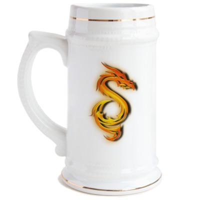 Пивная кружка Огненный дракон