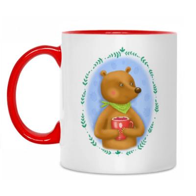 Кружка добрый медведь