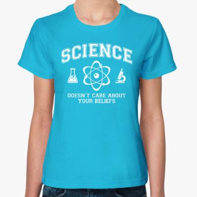 Женская футболка Science