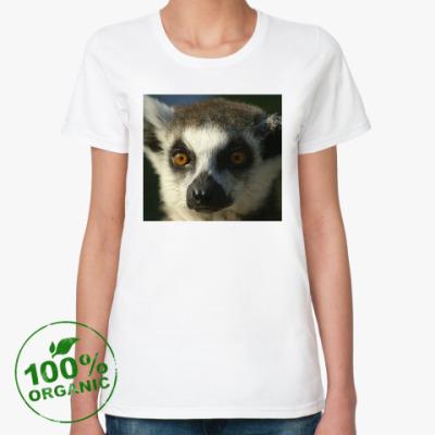 Женская футболка из органик-хлопка Лемур