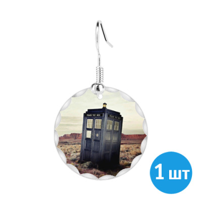 Серьги TARDIS In The Desert